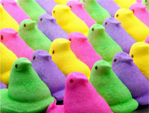 my Peeps and according to Easter Candy Peeps