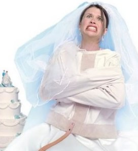 bride in a straight jacket